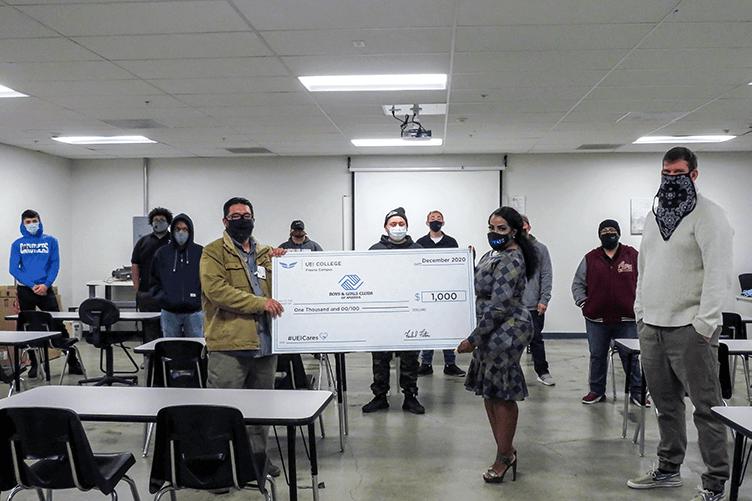 Students in UEI College Fresno Win Contest, Make $1000 Donation to Boys & Girls Club - UEI College Fresno