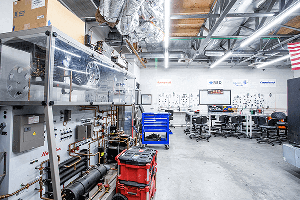 Heating, Ventilation and Air Conditioning (HVAC) Lab 1 at UEI Bakersfield Trade School Campus - UEI College