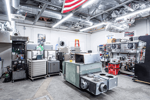 Heating, Ventilation and Air Conditioning (HVAC) Lab 3 at UEI Bakersfield Trade School Campus - UEI College