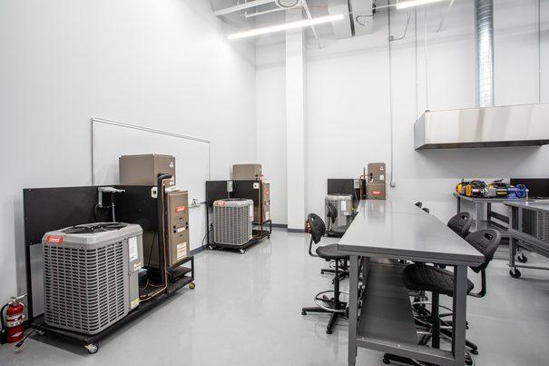 Heating, Ventilation and Air Conditioning (HVAC) Lab 4 at UEI Las Vegas Trade School Campus - UEI