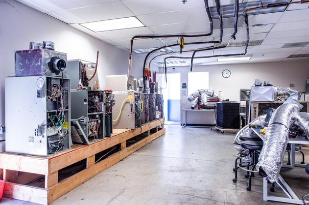 Heating, Ventilation and Air Conditioning (HVAC) Lab 1 at UEI Stockton Trade School Campus - UEI College