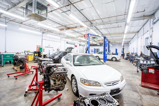Automotive Technician Lab 2 at UEI Oceanside Trade School Campus - UEI College
